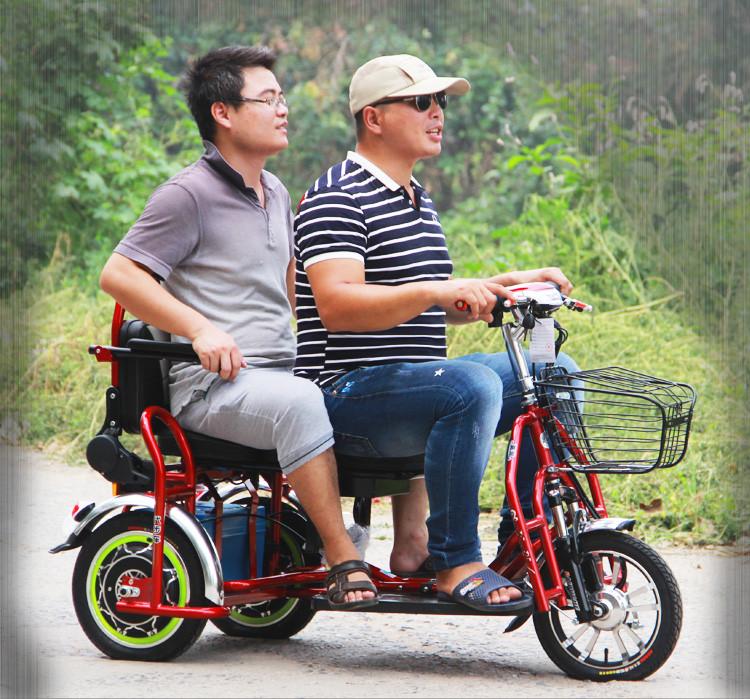 Электротрицикл, складной, мотор 48v 500w, аккум. Li-ion 48v 25A/H. Дальность 55-75 км. Вес 40 кг. Колеса 14''.