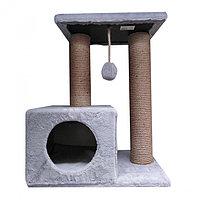 ЗН0285 Энди, Домик-когтеточка для кошек, размер 30х50х65 см, цвет в ассортименте