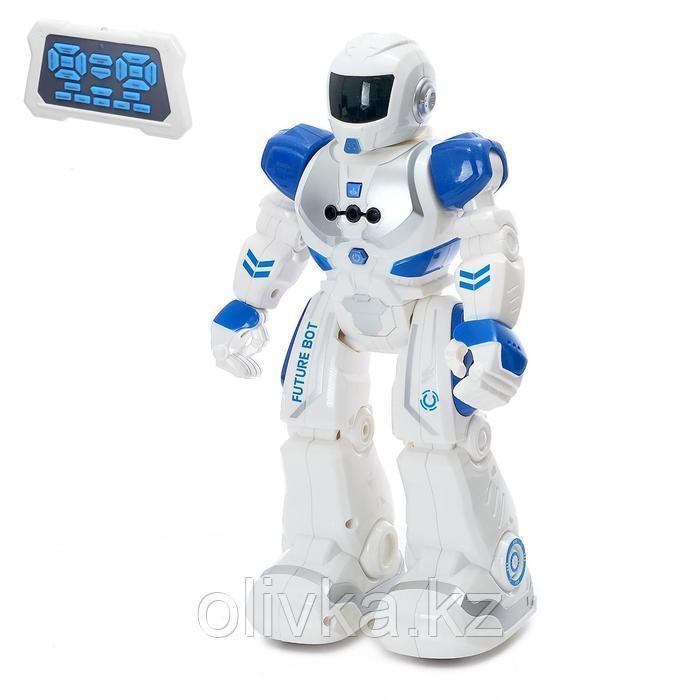 Робот радиоуправляемый «Смарт бот», ходит, световые и звуковые эффекты, русская озвучка, цвет синий
