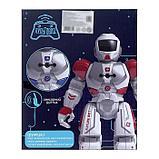 Робот радиоуправляемый «Смарт бот», ходит, световые и звуковые эффекты, русская озвучка, цвет синий, фото 5