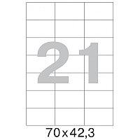 Этикетки самоклеящиеся Office Label 70х42.3 мм./21 шт. на лист. А4 (100 л./уп.)
