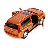 Машина металлическая Toyota Land Cruiser Prado, открываются двери, инерция, свет, цвет МИКС, фото 4