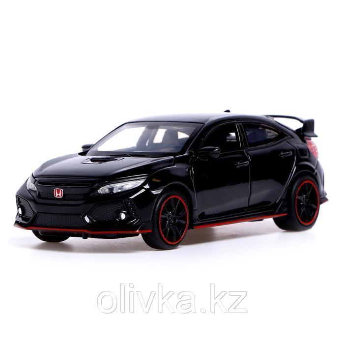 Машина металлическая Honda Civic, открываются двери, капот, багажник, световые и звуковые эффекты, инерция,