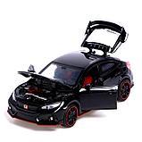 Машина металлическая Honda Civic, открываются двери, капот, багажник, световые и звуковые эффекты, инерция,, фото 4