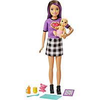 Кукла «Скиппер Няня», в клетчатой юбке, с малышом и аксессуарами