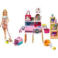 Игровой набор «Зоомагазин магазин для животных» с куклой Барби, питомцем и аксессуарами