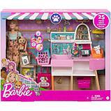 Игровой набор «Зоомагазин магазин для животных» с куклой Барби, питомцем и аксессуарами, фото 2