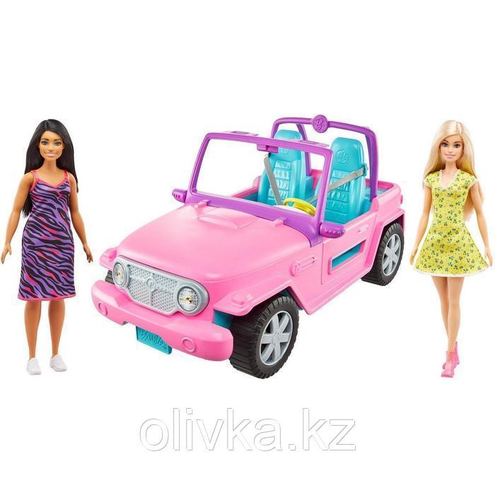 Кукла «Барби с подругой», на машине джипе розовом