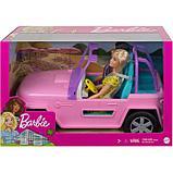 Кукла «Барби с подругой», на машине джипе розовом, фото 2