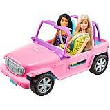 Кукла «Барби с подругой», на машине джипе розовом, фото 3