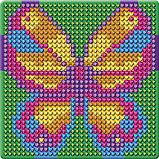 Алмазная мозаика магнит для детей «Бабочка», 10 х 10 см + ёмкость, стерж, клеев подушечка. Набор для, фото 6