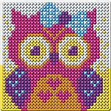 Набор для творчества. Алмазная мозаика магнит для детей «Совушка», 10 х 10 см + ёмкость, стержень, клеевая, фото 6