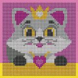 Алмазная мозаика для детей «Кошечка», 15 х 15 см + емкость, стерж, клеев подушечка. Набор для творчества, фото 6