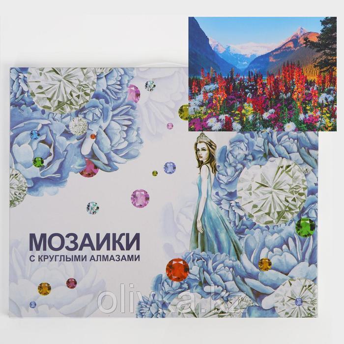 Алмазная мозаика с подрамником, полное заполнение «С видом на горы» 40×50 см