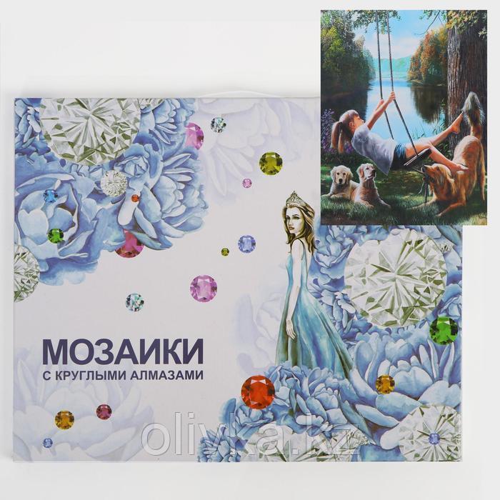Алмазная мозаика с подрамником, полное заполнение «Веселье» 40×50 см