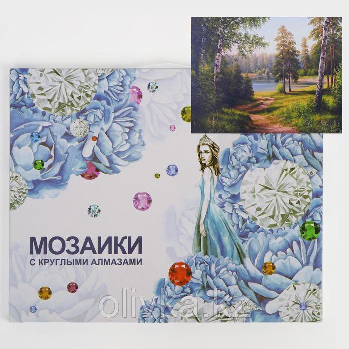 Алмазная мозаика с подрамником, полное заполнение «Русские берёзки» 40×50 см