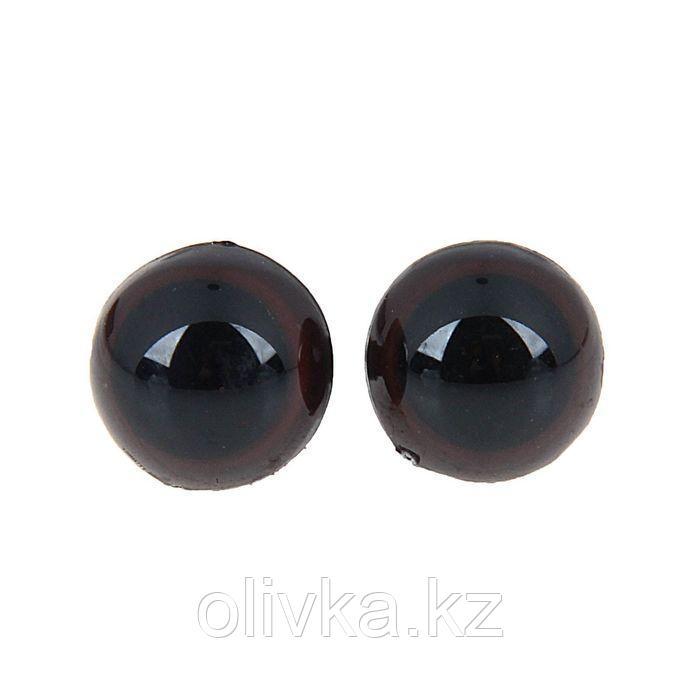 Глаза винтовые с заглушками, полупрозрачные, набор 4 шт, цвет коричневый, размер 1 шт: 1,3×1,3 см