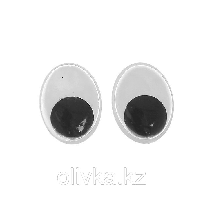 Глазки на клеевой основе, набор 88 шт, размер 1 шт: 1,4×1,8 см