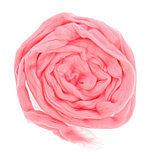 Гребенная лента 100% шерсть аргентинский меринос 50гр (0160, розовый), фото 2