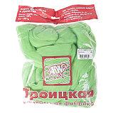 Гребенная лента 100% тонкая мериносовая шерсть 100гр (3295, яркий салат), фото 3