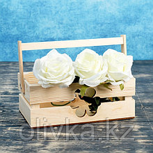 "Кашпо деревянное 24.5×13.5×9 см ""Двушка Лайт"", двухреечное, цветок Дарим Красиво"
