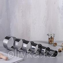 """Набор форм для выпечки и выкладки """"Круг"""", D-10, H-5 см, 6 шт."""