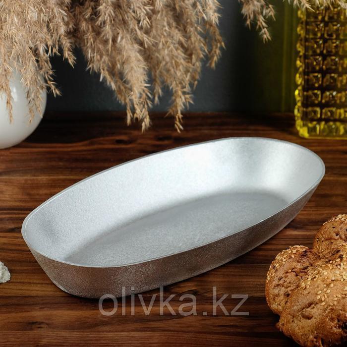 Форма для выпечки овальная «Каменецкая», 29х15х4 см, литой алюминий