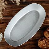 Форма для выпечки овальная «Каменецкая», 29х15х4 см, литой алюминий, фото 2
