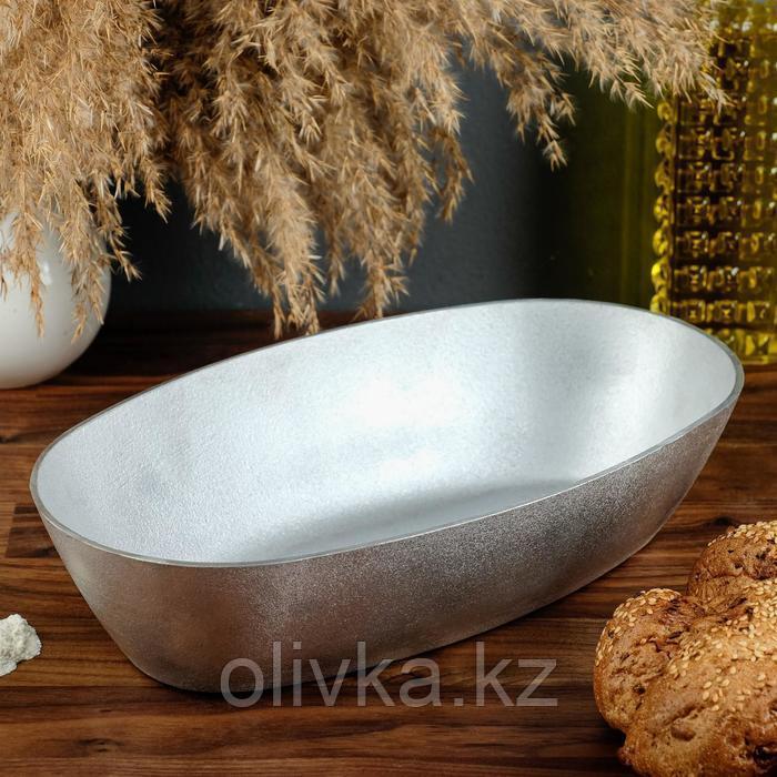 Форма для выпечки овальная «Подольская», 32х17,5х7 см, литой алюминий