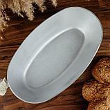 Форма для выпечки овальная «Подольская», 32х17,5х7 см, литой алюминий, фото 2