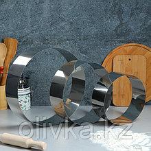 """Набор форм для выпечки и выкладки """"Круг"""", D-30, H-8,5 см, 3 шт."""