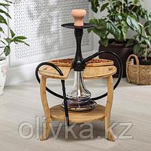 Столик-поднос для кальяна Катунь, 38×35 см, бамбук