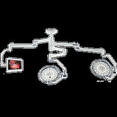 """Двухкупольная хирургическая лампа с монитором 24"""" (с камерой), LD20-53"""