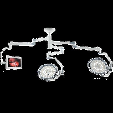 """Двухкупольная хирургическая лампа с монитором 24"""" (с камерой), LD20-53, фото 2"""