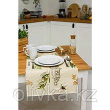 Дорожка Grace, размер 150×40 см, принт оливия