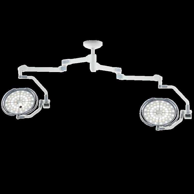 Двухкупольная хирургическая лампа без монитора (с камерой), LD20-52