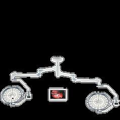 Операционная лампа с двумя куполами, с камерой и с настенным монитором 24'', LD20-54