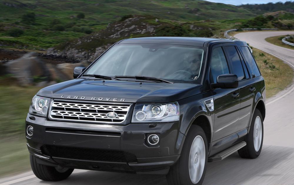 "Пороги ""Premium-Black"" Land Rover Freelander (2006-2014)"