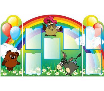 Информационный стенд для детского сада ВИННИ-ПУХ
