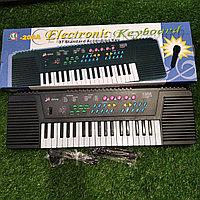 Детский синтезатор пианино с микрофоном, Ионика новые в магазине.