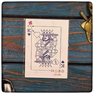 """Водостойкая временная тату наклейка  """" Король игральная карта"""""""