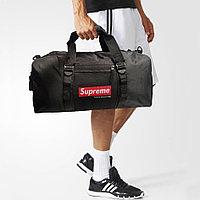 Сумка спортивная дорожная с боковым карманом ручкой и плечевыми ремнями 8081 50*22*23 см черная
