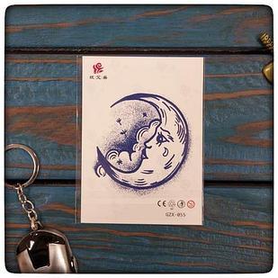 """Водостойкая временная тату - наклейка """" Луна"""""""