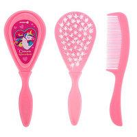 Расчёска детская массажная щётка для волос 'Самая красивая', от 0 мес., цвет розовый