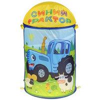 Корзина для игрушек 'Синий трактор' 43х60 см