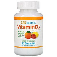 California Gold Nutrition, жевательный витамин D3, 25 мкг (1000 МЕ) 90 таблеток