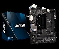Материнская плата ASRock J4125M Quad-Core J4125 2,7ГГц 2xDIMM DDR4 2xSATA3 COM1 D-Sub DVI HDMI mATX