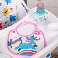Подарочный детский набор 'Волшебная пони' бутылочка для кормления 150 мл нагрудник детский непромокаемый из