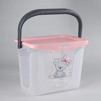 Контейнер для игрушек 6 л 'Mommy love', цвет нежно-розовый