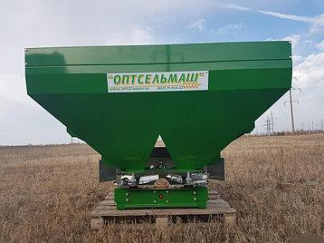 Разбрасыватель удобрений 1100л навесной двухдисковый Фермер, фото 2